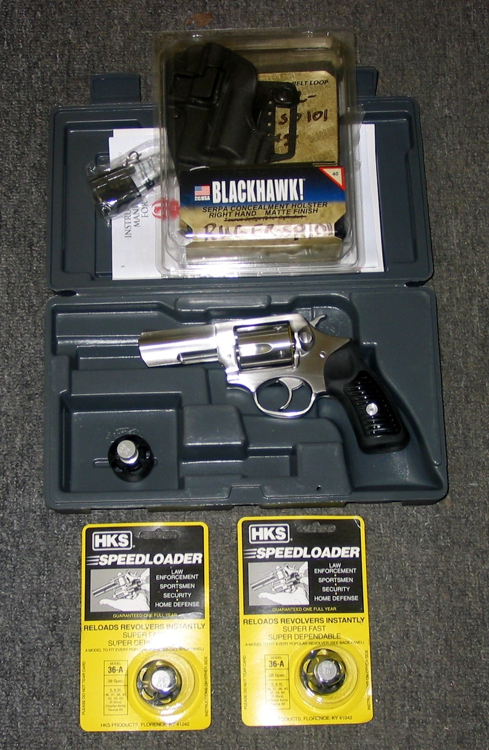 Preowned Ruger SP-101, Never Fired,  357 Magnum, 5 Rounds