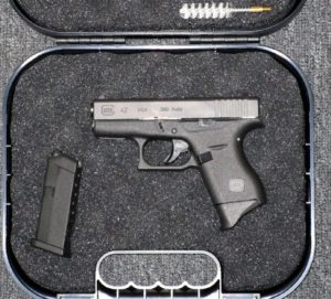 Preowned Glock 42,  380 ACP, 6 Rounds, 2 Magazines, 3 3