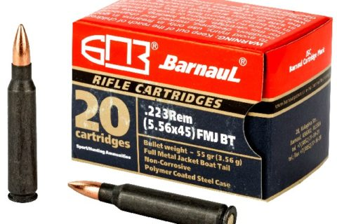 Barnaul Ammunition, .223 Remington, 55 Grain, Full Metal Jacket, 500 Round Case