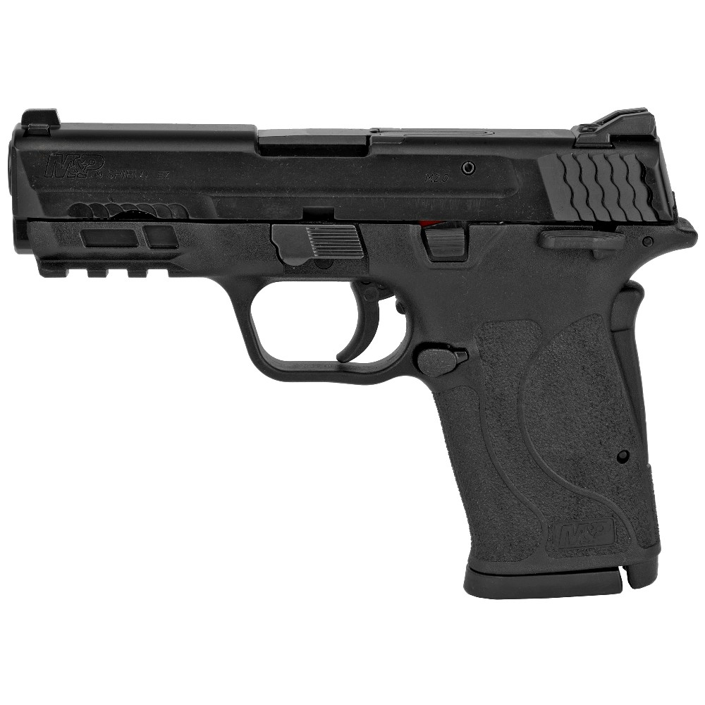 New Smith & Wesson M&P9 Shield EZ M2.0, 9mm, 3.7″ Barrel, Polymer Frame, Black Finish, 3-Dot Sights, Grip/Thumb Safety, 8 Rounds, 2 Magazines: Only $469!