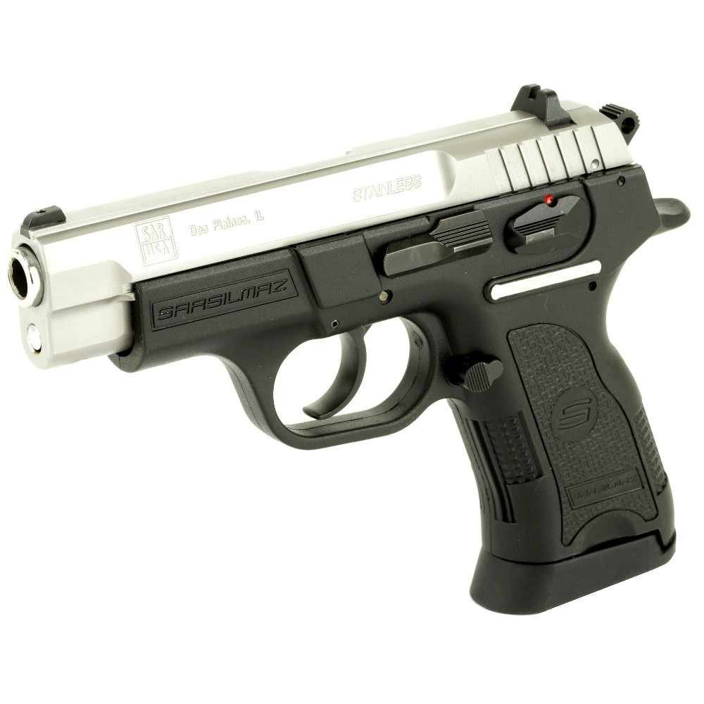 New SAR USA B6C, DA/SA, Compact, 9mm, 3.8″ Barrel, Polymer Frame, Stainless Finish, 13 Rounds, 2 Magazines: Only $297!