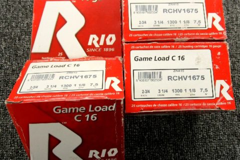 Classified: RIO 16Ga Game Load, 2-3/4″, 1300fps, #7.5, 100 Rounds: $30