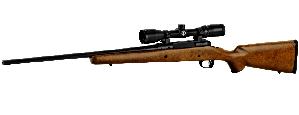 New Savage Axis II XP, Bolt Action, .270 Win., 22″ Barrel, Black Color, Brown Hardwood Stock, AccuTrigger, Detachable Box Magazine, 4 Rounds, Bushnell 3-9X40 Scope: Only $497!