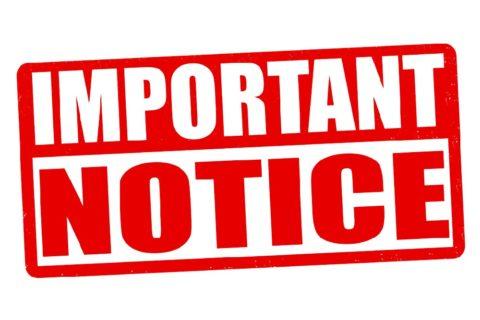 Notice:  New Store Hours Beginning February 2021