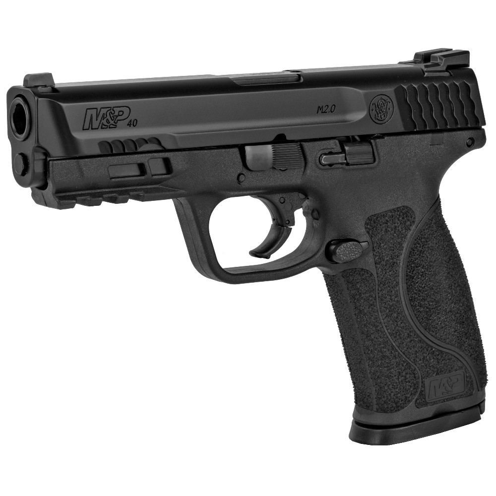 New Smith & Wesson M&P 2.0, Full Size, Striker Fired, .40 S&W, 4.3″ Barrel, Polymer Frame, Black Finish, 10 Rounds, 2 Magazines, Fixed Sights: Only $539!
