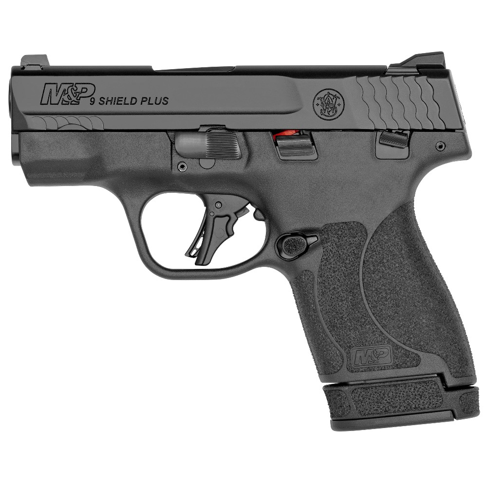 New Smith & Wesson Shield Plus, Striker Fired, Micro-Compact, 9mm, 3.1″ Barrel, White Dot Sights, Polymer Frame, Thumb Safety, Flat Face Trigger, 10 Round, 13 Round: Only $519!