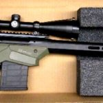 Preowned, Like New, Savage Axis II Precision, Bolt Action Rifle, .308 Win., 22″ Heavy Barrel, Black And OD Green, Polymer/ Aluminum Stock, Right Hand, 10 Rounds, Vortex Crossfire II 4-12X44 Scope: Only $849!