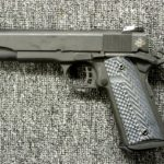 Preowned Rock Island M1911-A1 Tactical II, 10mm, 5.0″ Barrel, 8 Rounds, Fiber Optic Front Sight, Adjustable Rear Sight, Steel Frame, Parkerized Finish, G10 Grips: Only $529!
