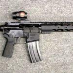 Preowned Radical Firearms RF-15, .223/5.56 NATO, 16″ Chrome Moly SOCOM Barrel, Mid-Length Gas System, 15″ M-LOK Aluminum Handguard, Burris RT-3 Red Dot: Only $669!